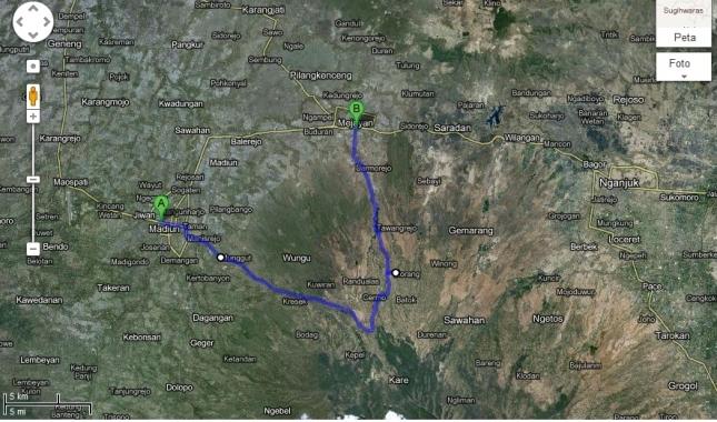 *Ini rutenya dari google maps