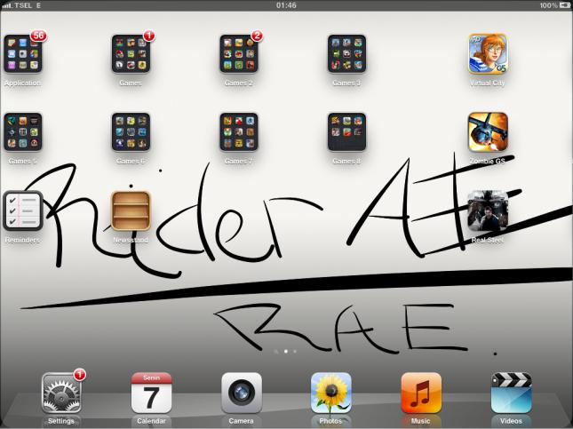 Tampilan dekstop Ipad yang begitu simple.. :) I like it